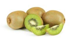Fruta de kiwi aislada en el fondo blanco Imágenes de archivo libres de regalías
