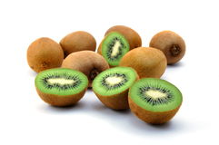 Fruta de kiwi aislada en el fondo blanco imagen de archivo