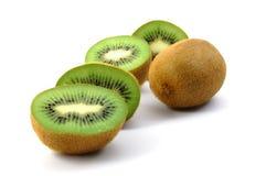 Fruta de kiwi aislada en el fondo blanco fotografía de archivo