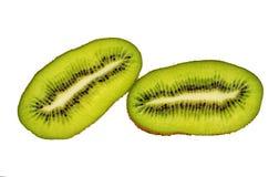 fruta de kiwi cortada aislada en el recorte blanco del fondo fotografía de archivo libre de regalías