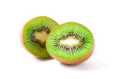 Fruta de kiwi cortada en dos porciones Fotografía de archivo