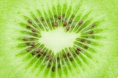 Fruta de kiwi de centro Imágenes de archivo libres de regalías