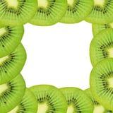 Fruta de kiwi, diseño del marco para el fondo Foto de archivo