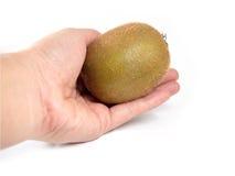 Fruta de kiwi a disposición en el fondo blanco Imagen de archivo libre de regalías