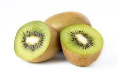 Fruta de kiwi en blanco Imagenes de archivo