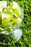 Fruta de kiwi en el florero Foto de archivo libre de regalías