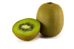 Fruta de kiwi jugosa aislada en el fondo blanco Imágenes de archivo libres de regalías