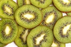 Fruta de kiwi jugosa cortada Visión desde arriba imagen de archivo