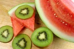 Fruta de kiwi y sandía Fotos de archivo