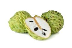 Fruta de la anona en blanco Fotografía de archivo