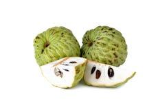 Fruta de la anona en blanco Fotografía de archivo libre de regalías