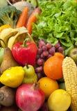 Fruta de la comida de las verduras frescas Fotos de archivo libres de regalías
