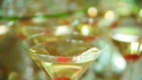 Fruta de la decoración de la tabla de la recepción, cacke, champán