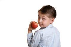 Fruta de la explotación agrícola del niño fotografía de archivo