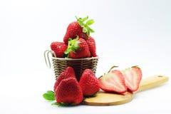 Fruta de la fresa de la vida Foto de archivo libre de regalías