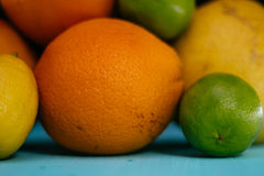 Fruta de la fruta cítrica, naranja, cal, limón, pomelo, pomelo Fotografía de archivo