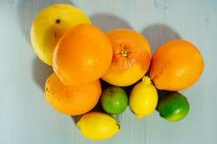 Fruta de la fruta cítrica, naranja, cal, limón, pomelo, pomelo Imagen de archivo libre de regalías