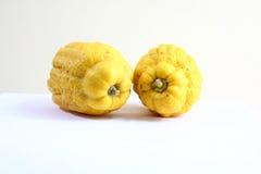 Fruta 1212 de la mano de dos Buda s Fotografía de archivo libre de regalías