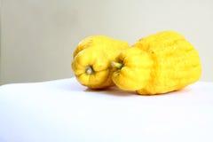 Fruta de la mano de dos Buda s Fotos de archivo libres de regalías