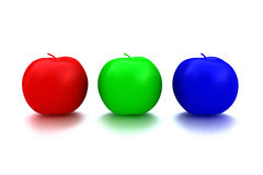 Fruta de la manzana del Rgb Foto de archivo