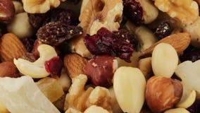 Fruta de la mezcla de la salud bio almacen de metraje de vídeo