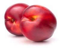 Fruta de la nectarina aislada en el recorte blanco del fondo foto de archivo libre de regalías