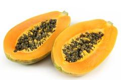 Fruta de la papaya Foto de archivo libre de regalías