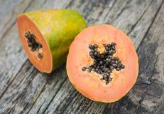 Fruta de la papaya Fotos de archivo libres de regalías