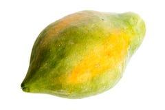 Fruta de la papaya aislada Fotos de archivo