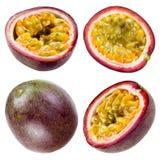 Fruta de la pasión aislada en blanco. Colección Foto de archivo libre de regalías