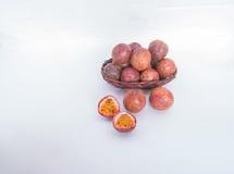 Fruta de la pasión sana Foto de archivo libre de regalías