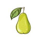Fruta de la pera Fruta de la pera en un fondo blanco 'ÑŒ DEL ‡ Ð°Ñ DE ПÐ?Ñ Imagen de archivo