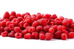 Fruta de las frambuesas aislada en el fondo blanco Fotografía de archivo