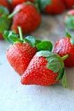 Fruta de las fresas Fotos de archivo libres de regalías