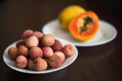 Fruta de Lychee Foto de Stock