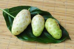 Fruta de Noni imagenes de archivo