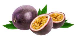 Fruta de paixão isolada no branco fotografia de stock
