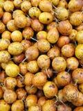 Fruta de paixão no mercado Fotografia de Stock Royalty Free