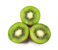 Fruta de quivi no branco Imagem de Stock