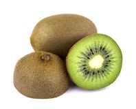 Fruta de quivi no fundo branco fotografia de stock royalty free