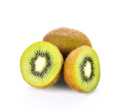 Fruta de quivi no fundo branco Fotos de Stock