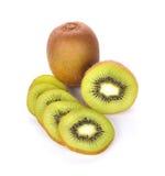 Fruta de quivi no fundo branco Imagem de Stock Royalty Free
