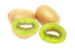 Fruta de quivi no fundo branco isolado imagem de stock royalty free