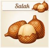 Fruta de Salak Icono del vector de la historieta libre illustration