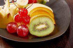 Fruta de sobremesa imagens de stock royalty free