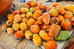 Fruta del cactus en Santorini Imagen de archivo libre de regalías