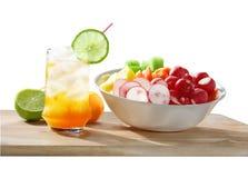 Fruta del coctel y de la ensalada Foto de archivo libre de regalías