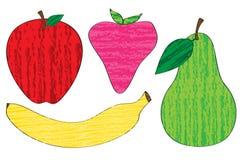 Fruta del creyón Foto de archivo