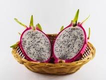 Fruta del dragón en el fondo blanco Imagen de archivo