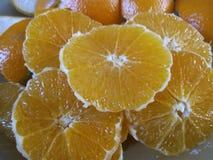 Fruta del ftesh del zumo de naranja Imagenes de archivo